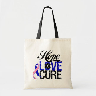 Male Breast Cancer HOPE LOVE CURE Gifts Tote Bag