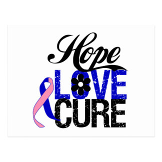 Male Breast Cancer HOPE LOVE CURE Gifts Postcard