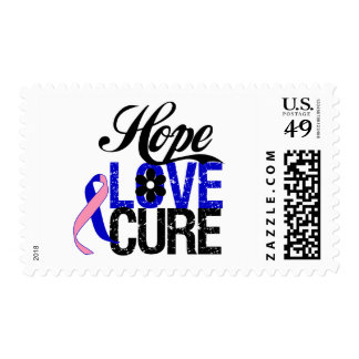 Male Breast Cancer HOPE LOVE CURE Gifts Stamp