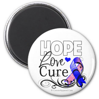 Male Breast Cancer Hope Love Cure 2 Inch Round Magnet