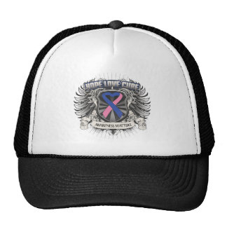 Male Breast Cancer Hope Love Cure Trucker Hat