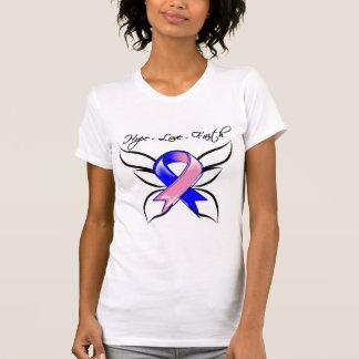 Male Breast Cancer Hope Love Faith T-shirts