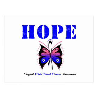 Male Breast Cancer HOPE Postcard
