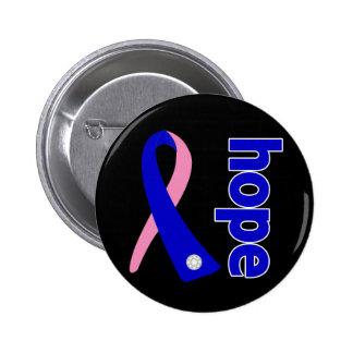 Male Breast Cancer Hope Ribbon Pins