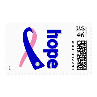 Male Breast Cancer Hope Ribbon Stamps