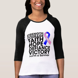 Male Breast Cancer Hope Strength Victory Tee Shirts