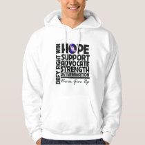 Male Breast Cancer Hope Support Advocate Hoodie