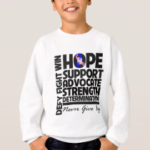 Male Breast Cancer Hope Support Advocate Sweatshirt