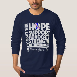 Male Breast Cancer Hope Support Strength T-Shirt