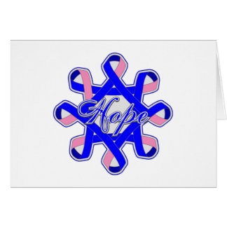 Male Breast Cancer Hope Unity Ribbons Greeting Card