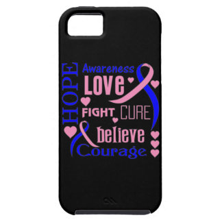 Male Breast Cancer Hope Words Collage iPhone 5 Covers