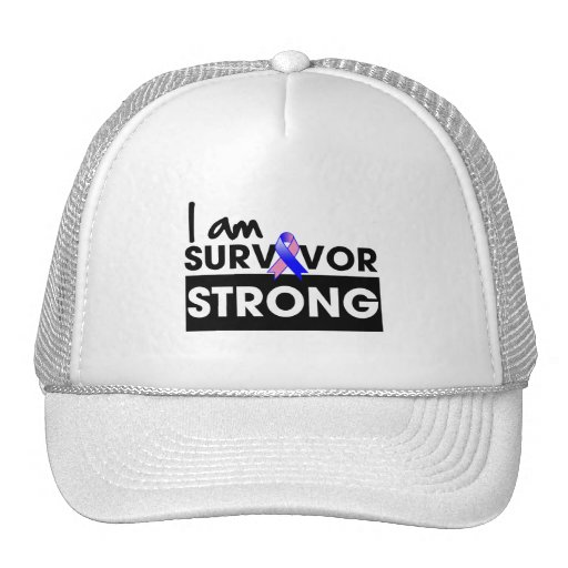 Male Breast Cancer I am Survivor Strong Trucker Hats