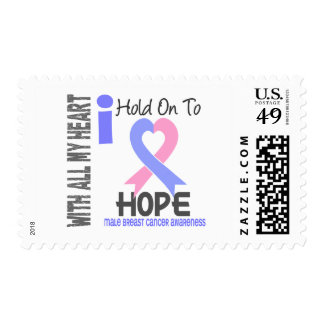 Male Breast Cancer I Hold On To Hope Postage Stamps