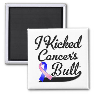 Male Breast Cancer I Kicked Butt Refrigerator Magnet