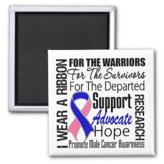 Male Breast Cancer I Wear a Ribbon TRIBUTE Refrigerator Magnet