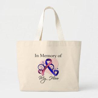 Male Breast Cancer In Memory of My Hero Bag