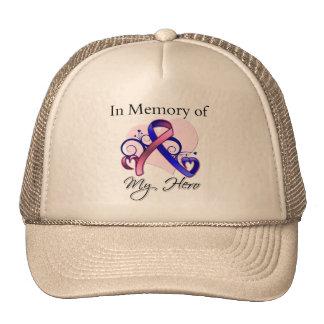 Male Breast Cancer In Memory of My Hero Trucker Hat