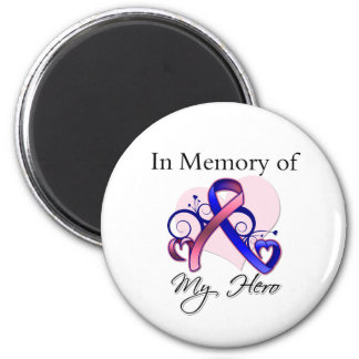 Male Breast Cancer In Memory of My Hero Magnets