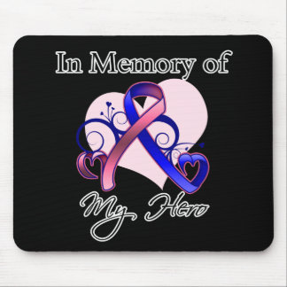 Male Breast Cancer In Memory of My Hero Mouse Pad