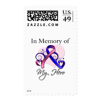 Male Breast Cancer In Memory of My Hero Stamps
