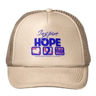 Male Breast Cancer Inspire Hope Mesh Hat