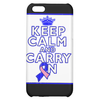 Male Breast Cancer Keep Calm and Carry ON iPhone 5C Cases