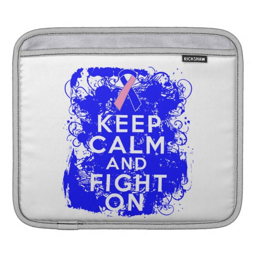 Male Breast Cancer Keep Calm and Fight On Sleeves For iPads
