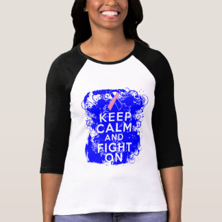 Male Breast Cancer Keep Calm and Fight On Shirts
