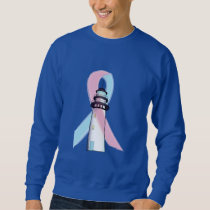 Male Breast Cancer Lighthouse of Hope Sweatshirt
