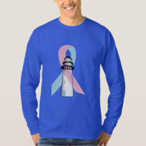 Male Breast Cancer Lighthouse of Hope T-Shirt