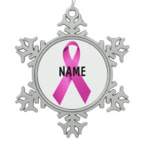 Male Breast Cancer Memorial Ornament