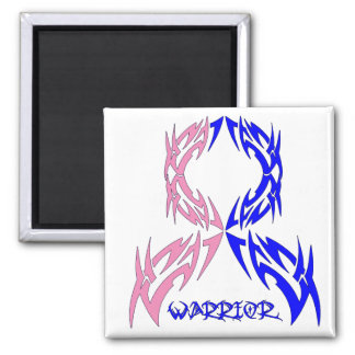 Male Breast Cancer Mens Warrior Tribal 2 Inch Square Magnet
