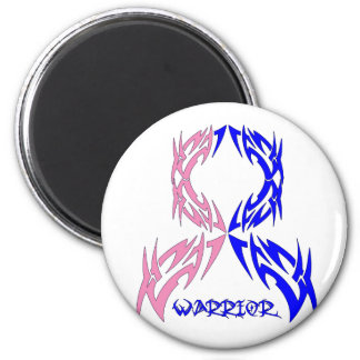Male Breast Cancer Mens Warrior Tribal 2 Inch Round Magnet