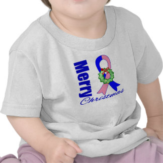 Male Breast Cancer Merry Christmas Ribbon Shirts