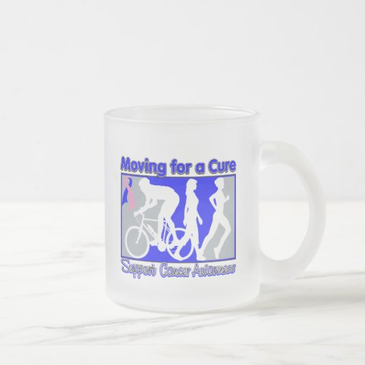 Male Breast Cancer Moving For A Cure 10 Oz Frosted Glass Coffee Mug