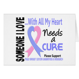 Male Breast Cancer Needs A Cure 3 Greeting Cards