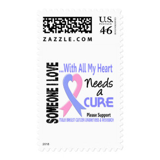 Male Breast Cancer Needs A Cure 3 Postage Stamp
