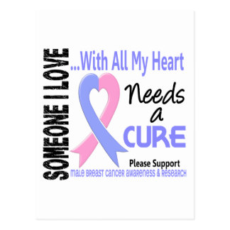 Male Breast Cancer Needs A Cure 3 Postcard