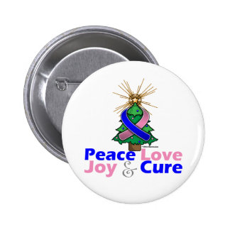 Male Breast Cancer Peace Love Joy Cure Button