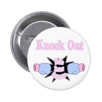 Male Breast Cancer Pinback Button