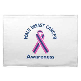MALE BREAST CANCER CLOTH PLACEMAT