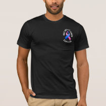 Male Breast Cancer Pocket Survivor Dark Shirt