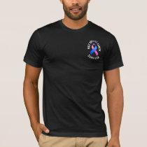 Male Breast Cancer Pocket Survivor Dark Shirt