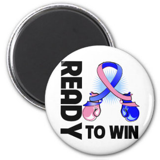 Male Breast Cancer Ready To Win 2 Inch Round Magnet