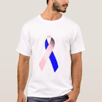Male Breast Cancer Ribbon Shirt