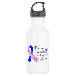 Male Breast Cancer Ribbon Someone I Love 18oz Water Bottle