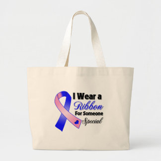 Male Breast Cancer Ribbon Someone Special Jumbo Tote Bag