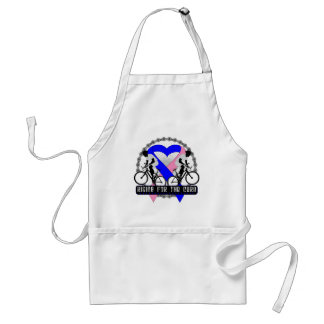 Male Breast Cancer Riding For The Cure Adult Apron