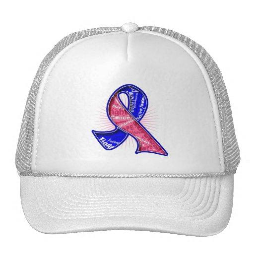 Male Breast Cancer Slogan Watermark Ribbon Trucker Hat