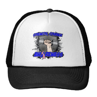 Male Breast Cancer Strength Courage Men Trucker Hat